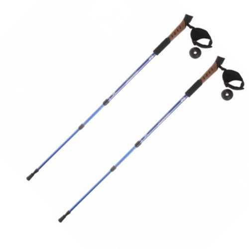 Палка для скандинавской ходьбы телескопическая, 3-х секц, алюминиевая