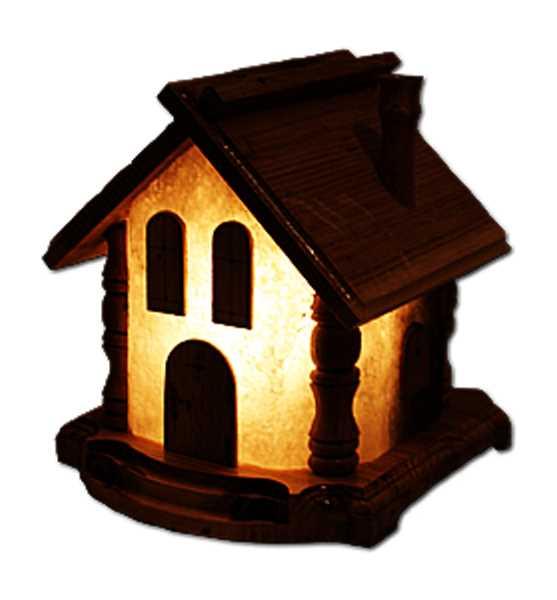 Солевая лампа Домик
