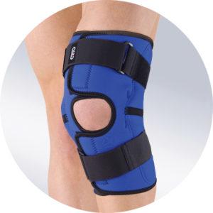 Ортез на коленный сустав разъемный с металлическими шарнирами
