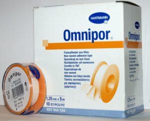 Пластырь фиксирующий Omnipor / Омнипор для щадящей фиксации повязок