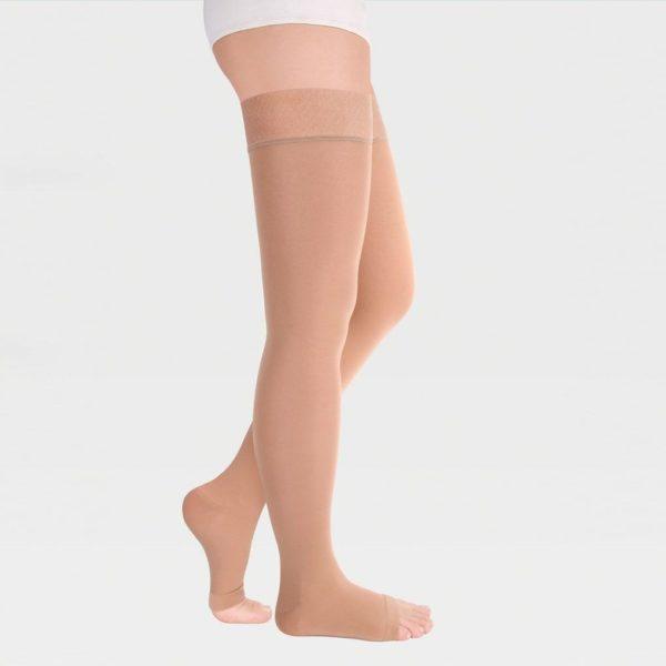 Чулки 2 класса компрессии с открытым носком полупрозрачные