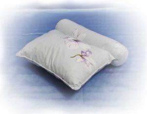 Подушка с наполнителем из гречневой лузги (2 в 1)
