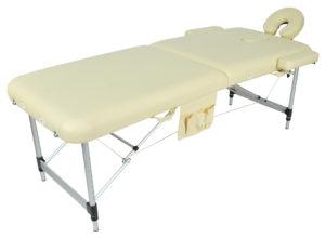Массажный стол складной алюминиевый JFAL01A (МСТ-002Л) 2-х секционный
