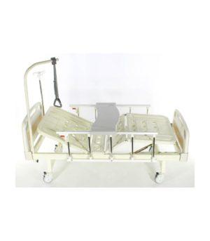 Медицинская кровать Е-8 MM-118ПЛН с полкой и обеденным столиком