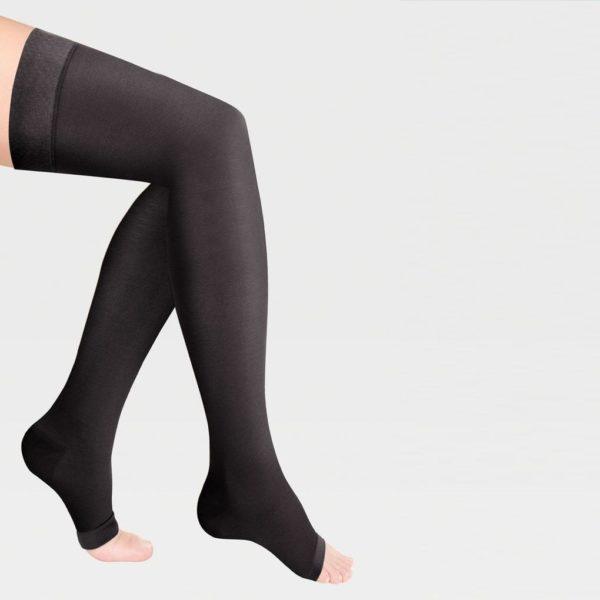 Чулки 2 класса компрессии  с открытым носком