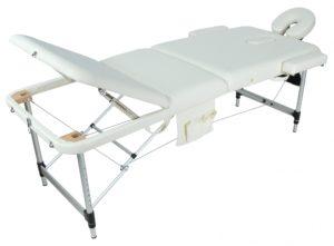 Массажный стол складной алюминиевый JFAL01A (МСТ-102Л) М/К (3-х секционный)