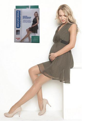 Компрессионные колготки для беременных Ergoforma