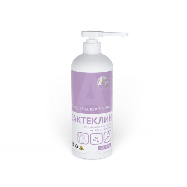 Жидкое антибактериальное мыло «Бактеклин» (кожный антисептик) 500 мл.
