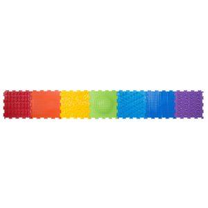 """Модульный массажный коврик от плоскостопия, набор """"Радуга"""" (7 пазла)"""