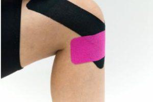 как правильно клеить тейп на колено